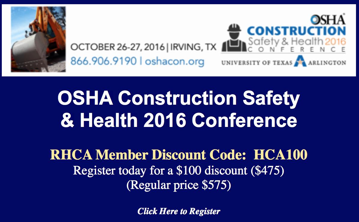 OSHA Conference Sale